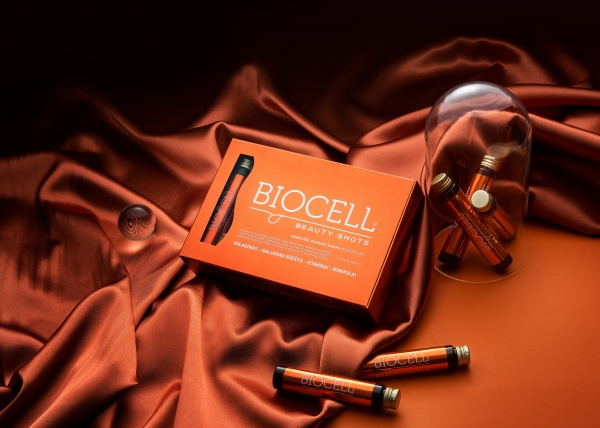 BIOCELL Beauty Shots, odai/plaukams/nagams 14x25 ml + DOVANA raminanti paakių kaukė