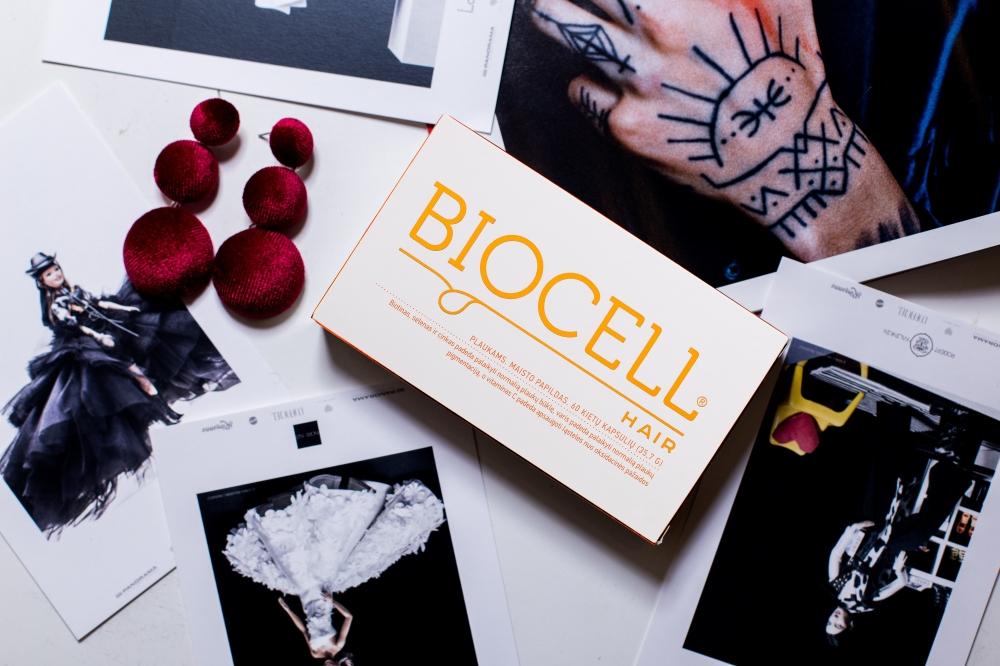 BIOCELL Hair, plaukams 60 kapsulių + DOVANA stangrinamoji veido kaukė